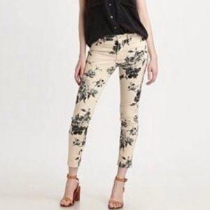J Brand floral Empress capri pants/jeans